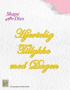 Tekst dies - Hjertelig Tillykke med Dagen - Dies Standsejern fra Nellie Snellen - SD041
