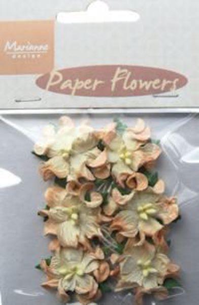 Creme papir blomster fra Marianne Design  - RB2231