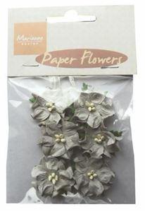 Grå papir blomster fra Marianne Design - RB2229