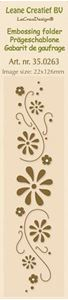 Border Flower Swirls - Embossing folder fra Leane Creatief - 35.0263