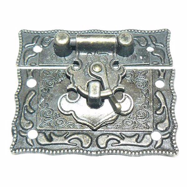 Billede af Æskelås - Antik bronze