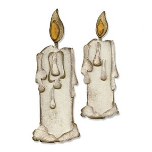 Stearinlys - Candlelight - Dies Standsejern fra Tim Holtz Sizzix