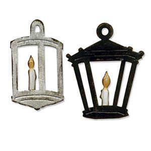 Lygter - Hanging Lantern - Dies Standsejern fra Sizzix - Tim Holtz -