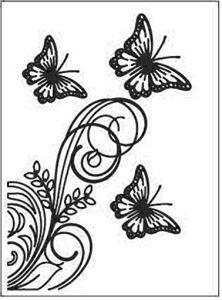 Sommerfugle embossingfolder A6 fra Dixi Craft - EMF003