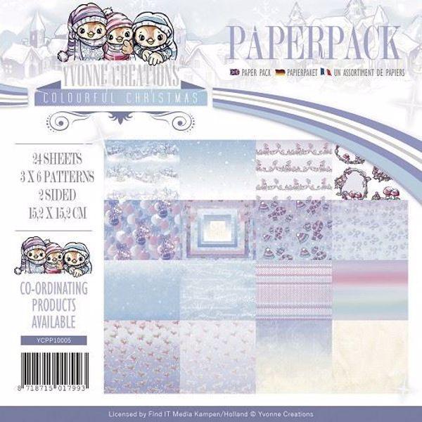 Colourful Christmas designblok fra Yvonne Creations - YCPP10005