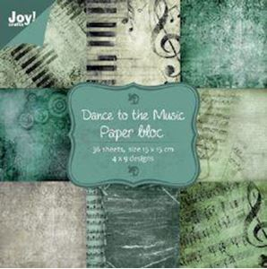 Dance to the Music designblok fra Joy Craft - 6011/0028