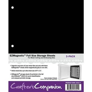 Magnetplader EZBinder Stor til opbevaring af dies Standsejern og stempler fra Crafters Companion - SS31-3