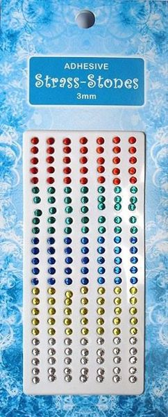 Billede af Rhinsten - Rød, grøn, blå, gul og klar