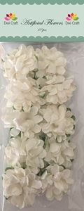 Hvide papir blomster fra Dixi Craft - AF021