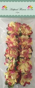 Røde/gule papir blomster fra Dixi Craft - AF022