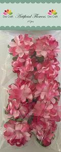 Pink/rosa papir blomster fra Joy Craft - AF023