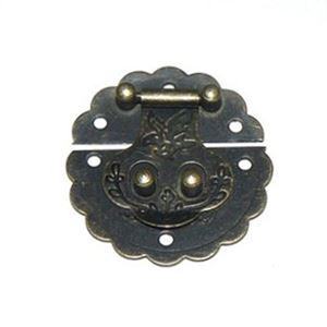 Rund Boks lås - Antik bronze