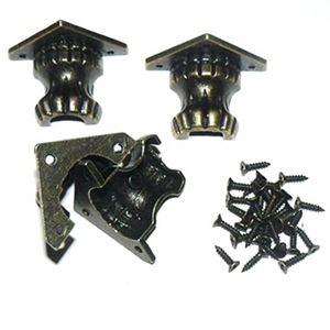 Hjørne Fødder - Antik bronze