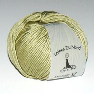 Mulberry Silk, 100% mårbærsilke strikkegarn fra Laines Du Nord - 102 Lys Oliven