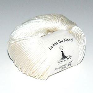 Mulberry Silk, 100% mårbærsilke strikkegarn fra Laines Du Nord - 82 Natur Hvid