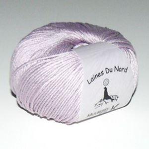 Mulberry Silk, 100% mårbærsilke strikkegarn fra Laines Du Nord - 91 Lys Syren