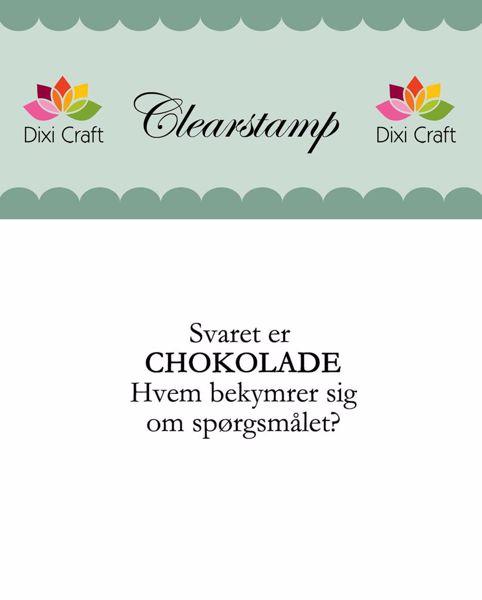 Billede af Chokolade stempel - 273006