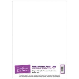 NEENAH Classic Crest fra Crafters Companion - Hvid NEENAH