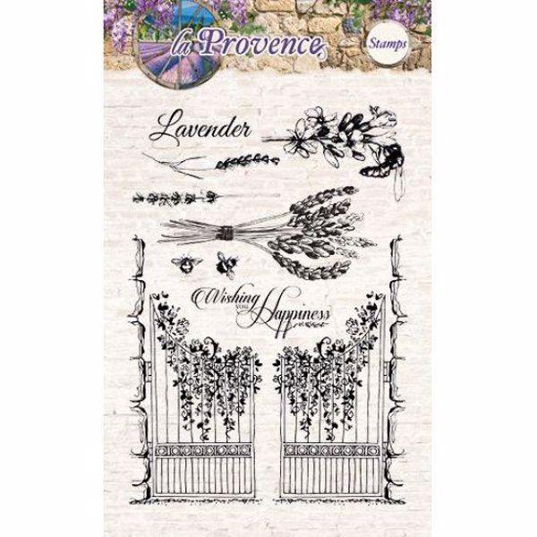 Billede af Låge og lavendel - Provence - STAMPLP112