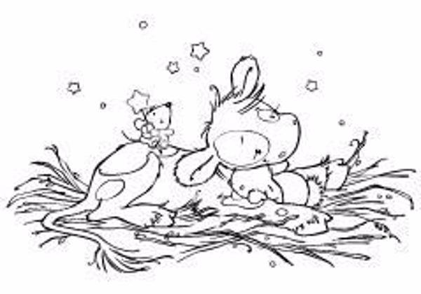 Ko på halm - Sweet dreams - Embossing folder fra Nellies Choise - PiF020