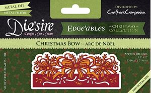 Christmas Bow - Jule sløjfe - Die Standsejern fra Crafters Companion - DC-EDGX-CBOW