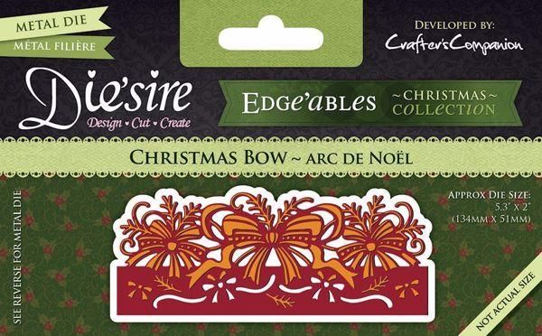 Christmas Bow - Jule sløjfe - Die Standsejern fra Crafters Companion - DC-EDGX-CBOW