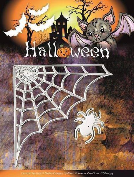 Halloween- Spindevæv & Edderkop - Dies Standsejern fra Yvonne Creations - YCD10033