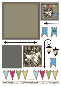 Konge til hest - klippeark fra Barto Design - 067388