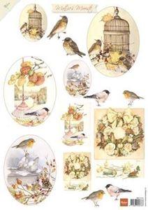 Mattie's Mooiste - Klippeark fra Marianne Design  - Vinterfugle - MB 0154