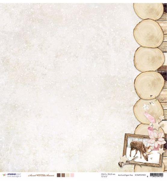 "Sweet Winter Season Designpapir 12"" fra Studiolight -  SWS02"