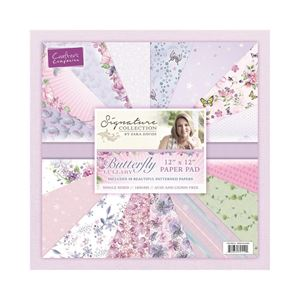 "Butterfly Lullaby 12x12"" (30,5x30,5cm) Designpapirblok fra Crafters Companion - S-BL-PAD12"