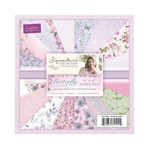 Butterfly Lullaby designblok 15x15cm fra Crafters Companion -S-BL-PAD6