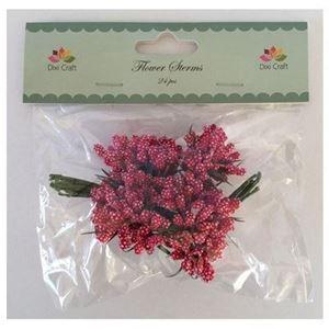 Røde blomsterbuketter - Kornaks fra Dixi Craft - SF46