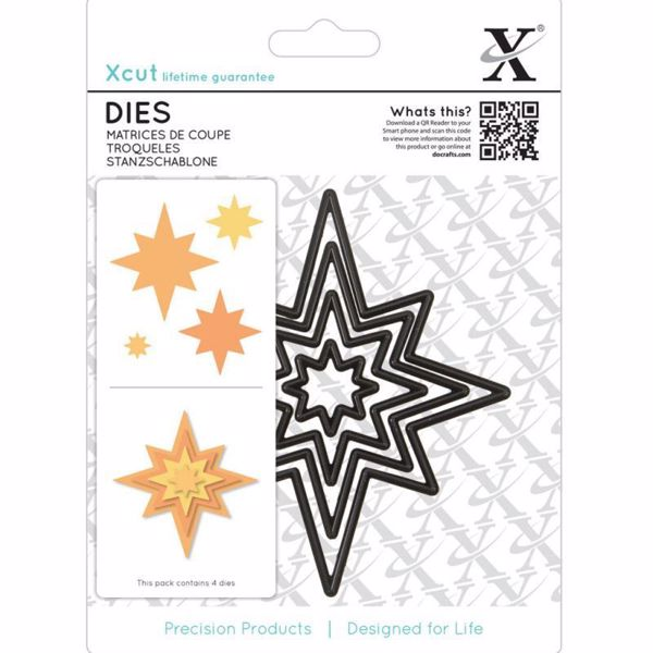 Julestjerne - Xcut diesæt med magnetplade fra Docraft - XCU503913