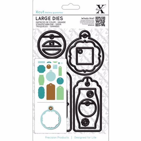 Gift Tag - Xcut diesæt med magnetplade fra Docraft - XCU503200