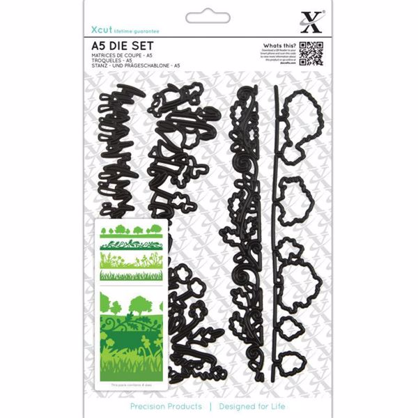 English Countryside Borders - Landskabs borter - Xcut diesæt med magnetplade fra Docraft - XCU503047