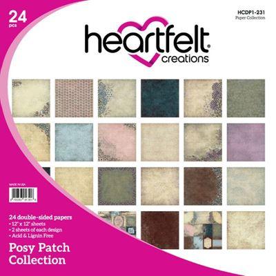 "Posy Patch HCDP1-231  -  12"" Designpapir blok fra Heartfelt Creations"