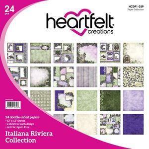 "Italiana Riviera HCDP1-259  -  12"" Designpapir blok fra Heartfelt Creations"