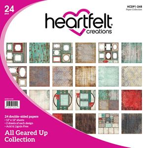 "All Geared Up HCDP1-248  -  12"" Designpapir blok fra Heartfelt Creations"