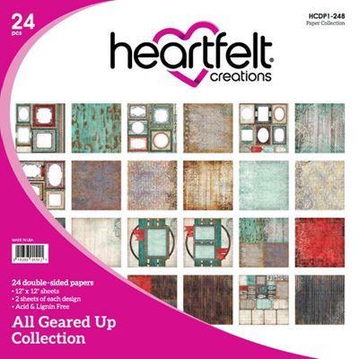 """All Geared Up HCDP1-248  -  12"""" Designpapir blok fra Heartfelt Creations"""