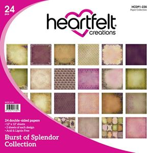 "Burst of Splendor HCDP1-235   -  12"" Designpapir blok fra Heartfelt Creations"