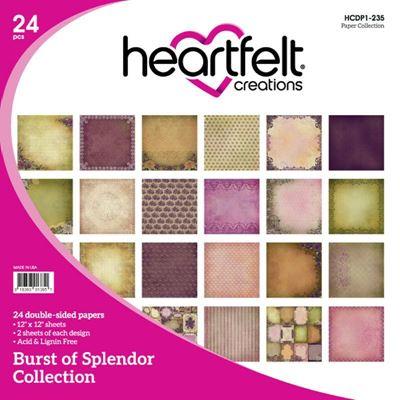 """Burst of Splendor HCDP1-235   -  12"""" Designpapir blok fra Heartfelt Creations"""