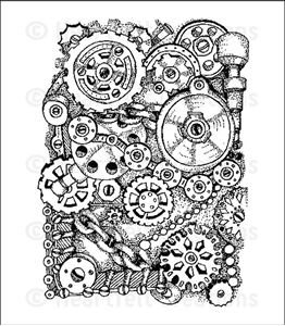 Cogs and Gears HCPC-3636 -   Stempel fra Heartfelt Creations