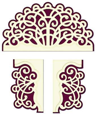 Layered Elegant Swirl - HCD1-716 -   Dies Standsejern fra Heartfelt Creations