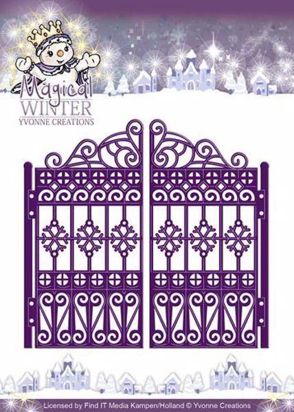 Dobbelt låge - Magical Winter - Dies Standsejern fra Yvonne Designs - YCD10044