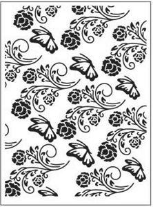 Sommerfugle blandt blomster - Embossing folder fra Dixi Craft - EMF001