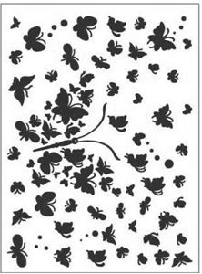Sommerfugl af sommerfugle - Embossing folder fra Dixi Craft - EMF008