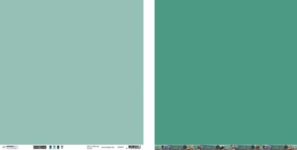 "10 stk Scrapark 12"" fra Studiolight -  UNIIN18 - Turkis/grøn"