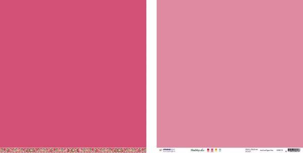 "10 stk Scrapark 12"" fra Studiolight -  UNISC10 - Pink/Rosa"