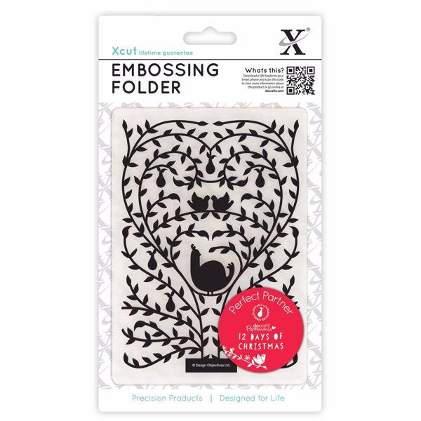 Embossing folder - 12 days of Christmas - XCU515901 X-cut